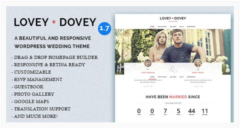 Lovey Dove__ WordPress Wedding Themes