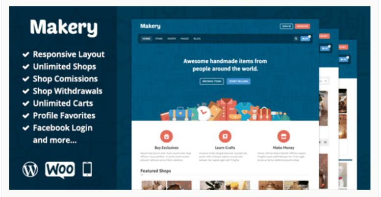 Makery - Marketplace WordPress Themes