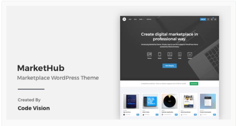 MarketHub - Marketplace WordPress Themes