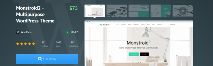 Monstroid2 Multipurpose - WordPress Business Themes