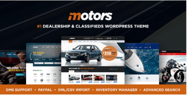 Motors- Marketplace WordPress Themes