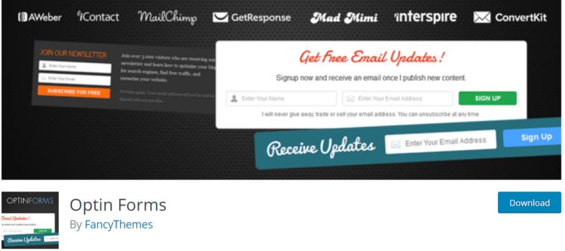 Optin Forms — WordPress Email Marketing Plugins