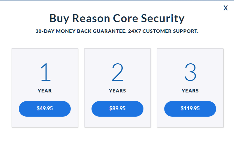 Price - Reason Core Security Review