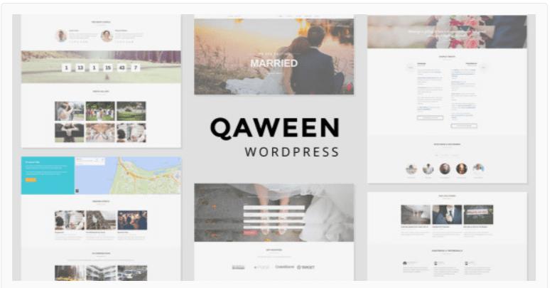 Qaween WordPress Wedding Themes