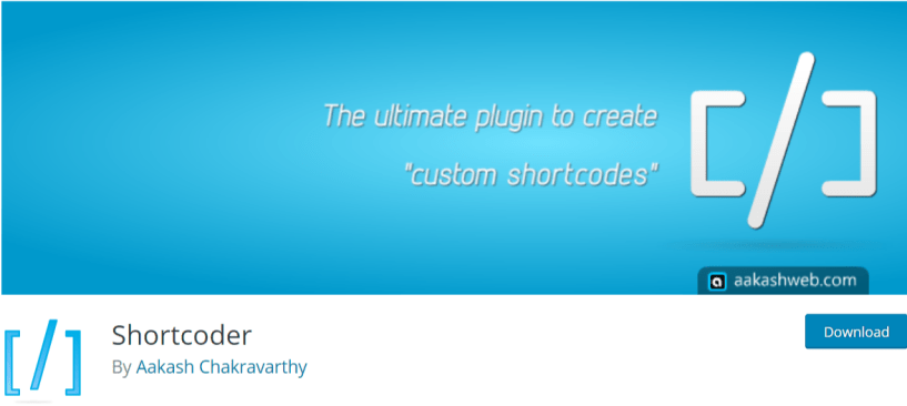 Shortcoder — WordPress Shortcodes Plugins