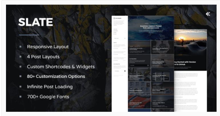 Slate Responsive- WordPress Admin Themes
