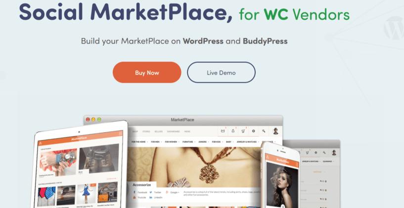Social MarketPlace • Marketplace WordPress Themes
