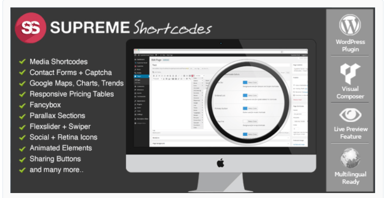 Supreme Shortcodes - WordPress Shortcode Plugins