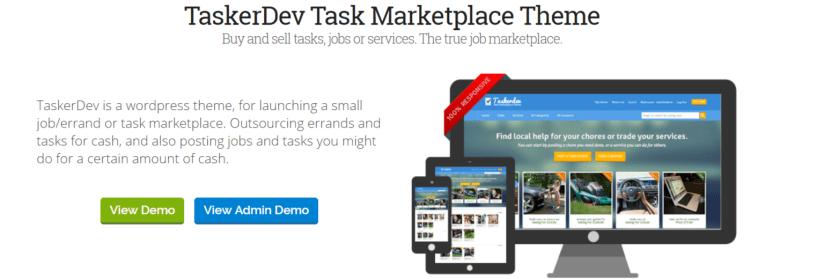 TaskerDev -Marketplace WordPress Themes