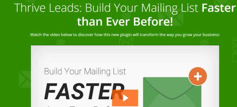 Thrive Leads - WordPress Email Marketing Plugin