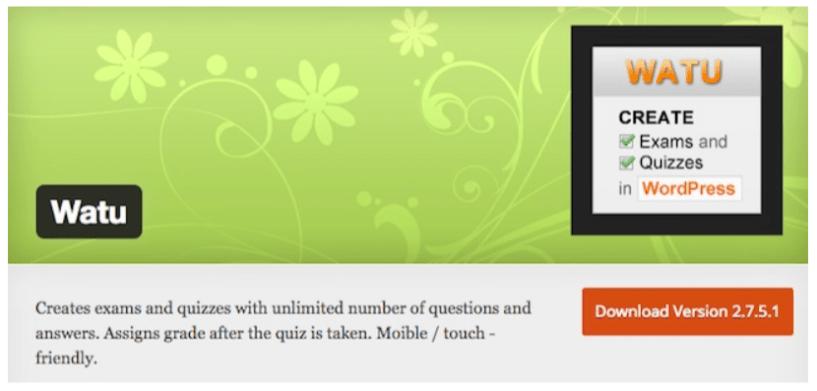 WordPress Quiz Plugins- Watu