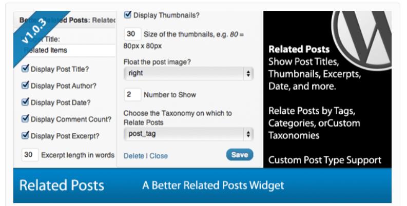 Better Related Posts Widget- Related Posts WordPress Plugins