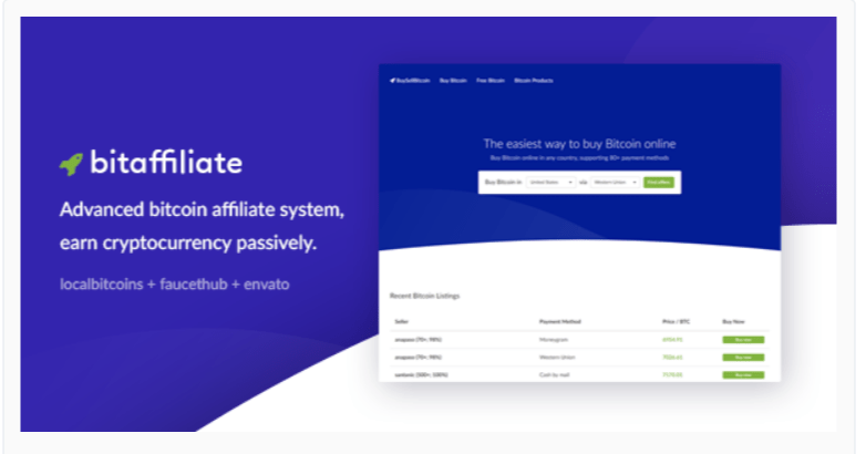 Bitcoin Affiliate System - Cryptocurrency WordPress Plugins