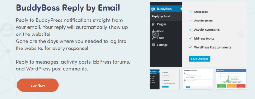 BuddyBoss Reply by Email - Best BuddyPress Plugins