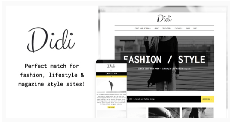 Didi - Fashion WordPress Themes