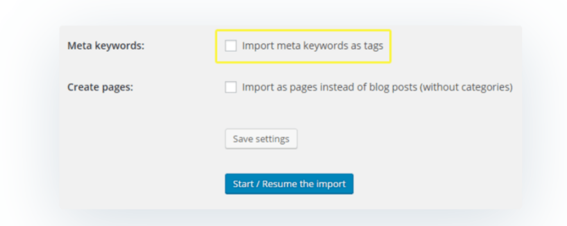 Import Meta Keywords- Migrate Joomla to WordPress