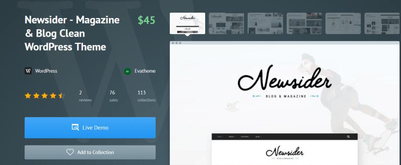 Newsider - Fashion WordPress Themes