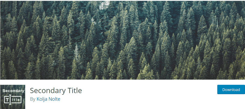 Secondary Title — Typography WordPress Plugins