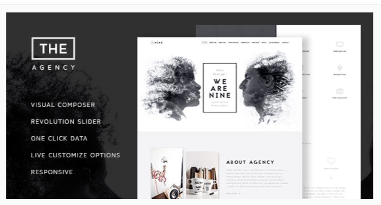 The Agency - Fashion WordPress Themes
