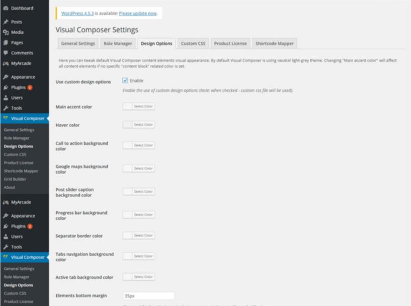 Visual Composer Design Option Tab-Visual Composer Drag & Drop Page Builder