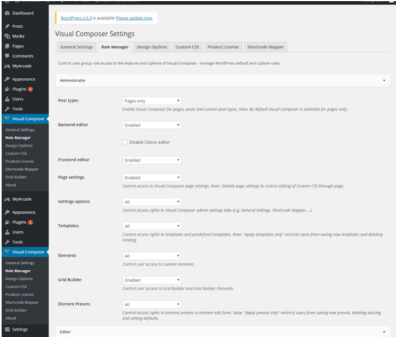 Visual Composer Settings Tab-Visual Composer Drag & Drop Page Builder Guide