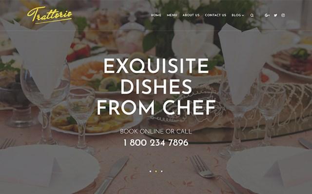 Trattorio - Restaurant Elementor WordPress Theme
