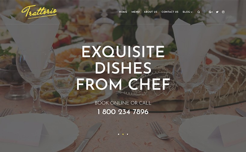 Trattorio - Restaurant Elementor WordPress Theme