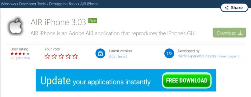 AIR iPhone Emulator- iPhone Emulators