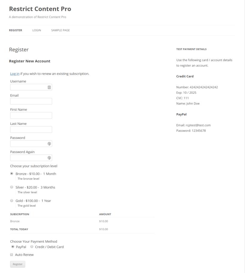 Live Demonstration- Restrict Content Pro