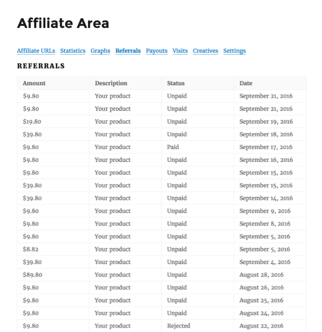 Referrals- AffliateWP Review