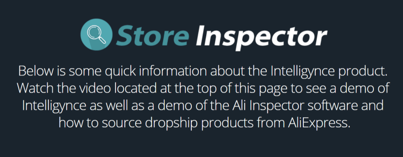 Intelligynce Review- Store Inspector