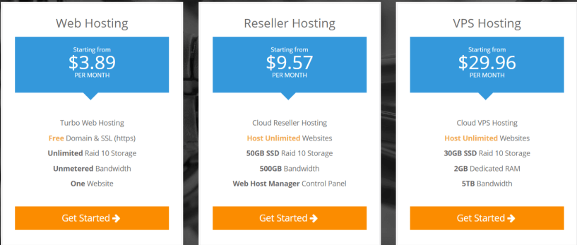 NameHero Coupon Codes- Pricing Plans