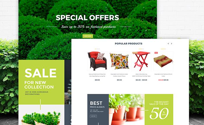 Garden Design Web Template