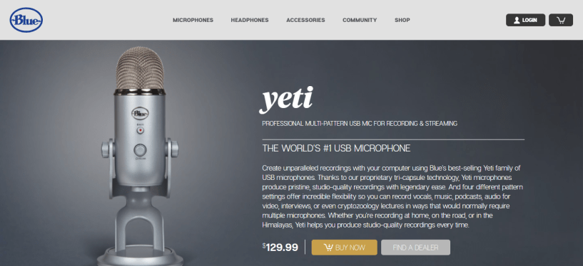Yeti microphones as vlogger gear - BloggersIdeas