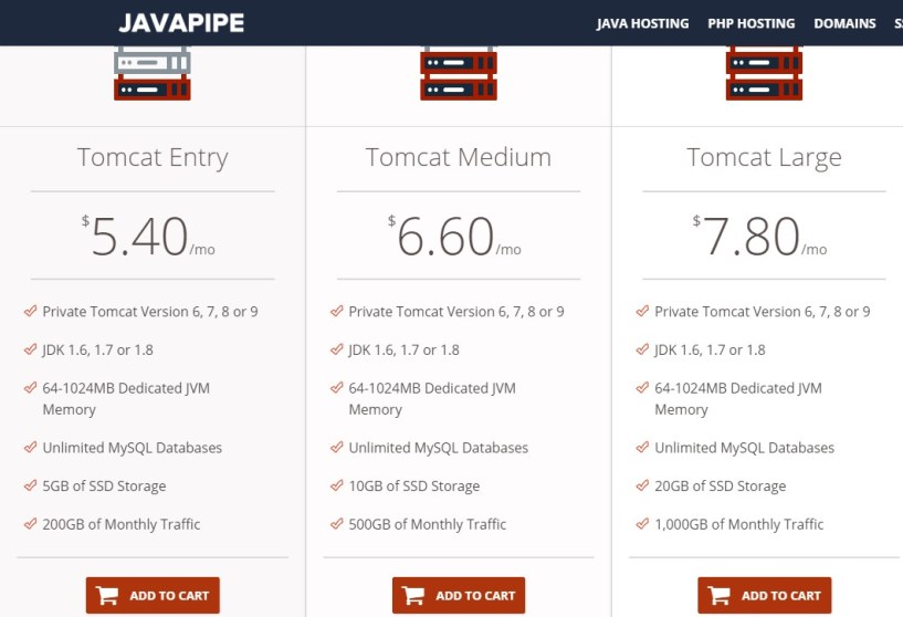 cheap web hosing providers- javapipe