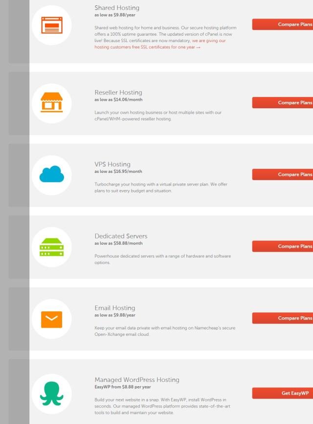 namecheap -cheap web hosting