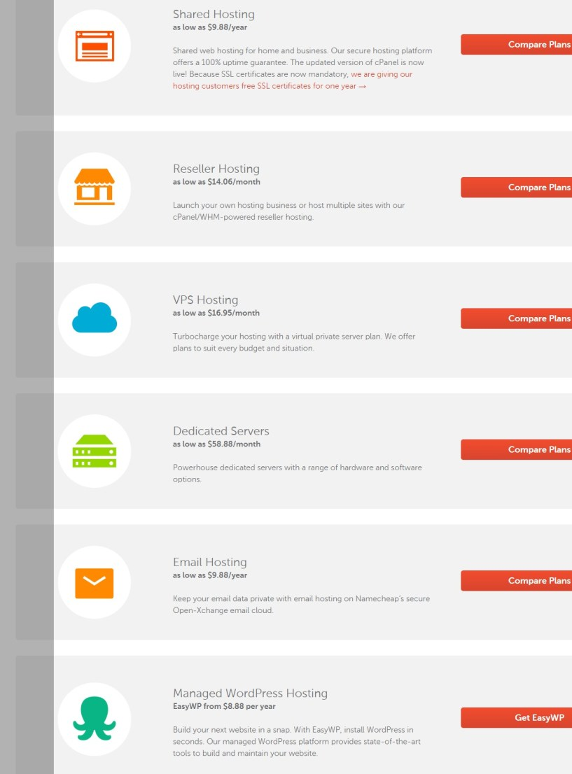 namecheap -cheap web hosting