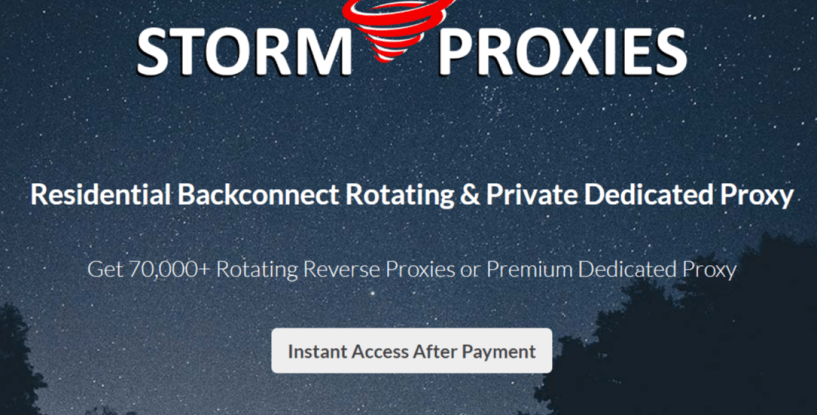 Backconnect Proxies- StormProxies Residental Proxies