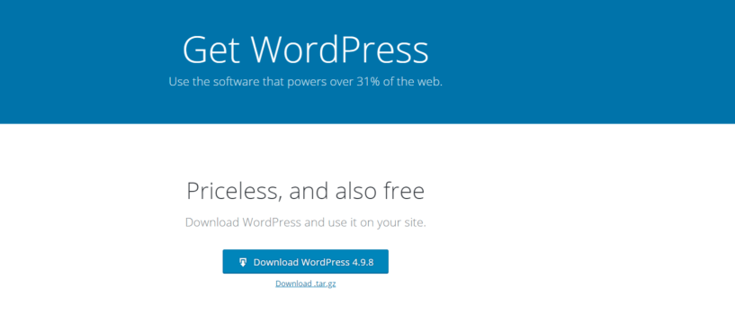 Create A BLog Easily- Download WordPress