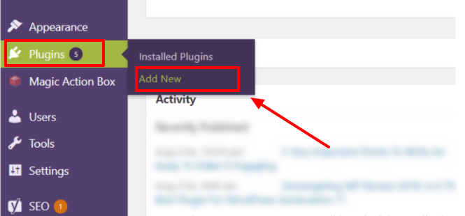 Create A Blog Easily- Add Plugins