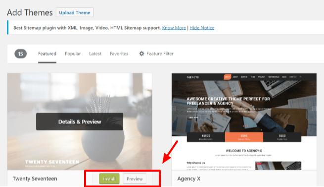 Create A Blog Easily- Choose A Theme