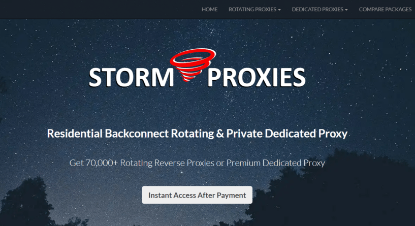 StormProxies- Setup Proxies Easily