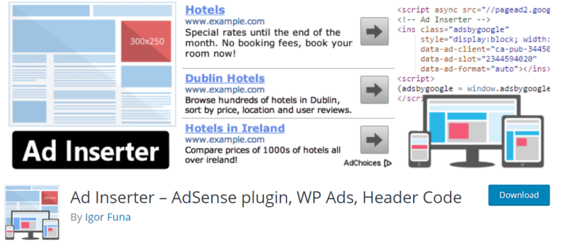 Ad Inserter Review – AdSense plugin WP Ads Header Code