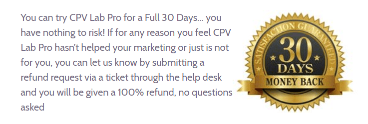 CPV Lab Review- Money Back Guarantee