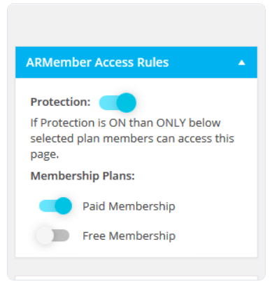 ARMember Review- Access Rules