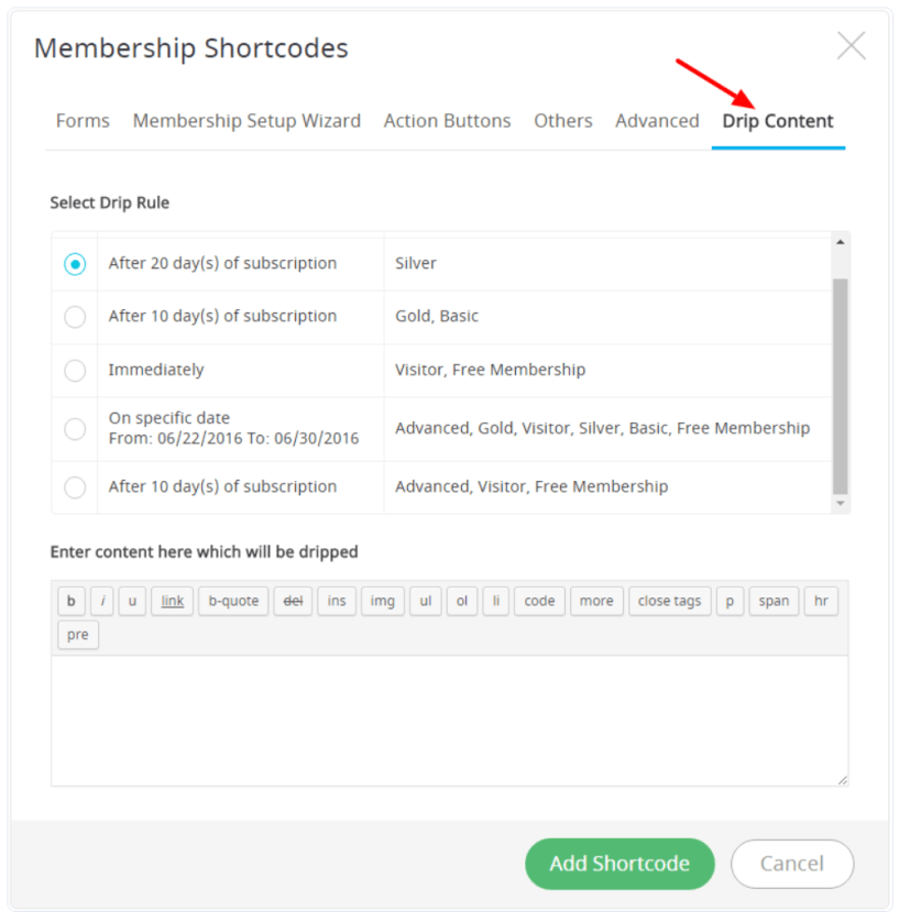 ARMember Review- Membership Shortcodes