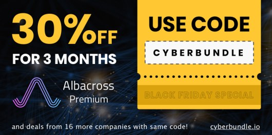 Albacross Black friday banner horizontal