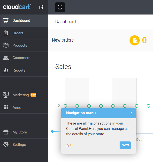 CloudCart Review- Easy Navigation