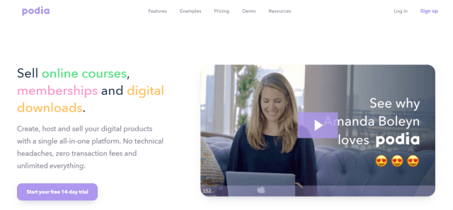 Podia Review- Sell Online Courses Memberships and Downloads