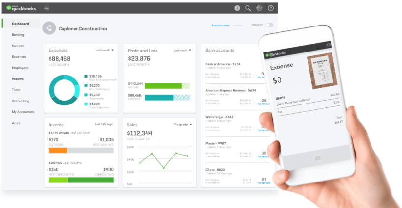 QuickBooks Payments Review- Dashboard